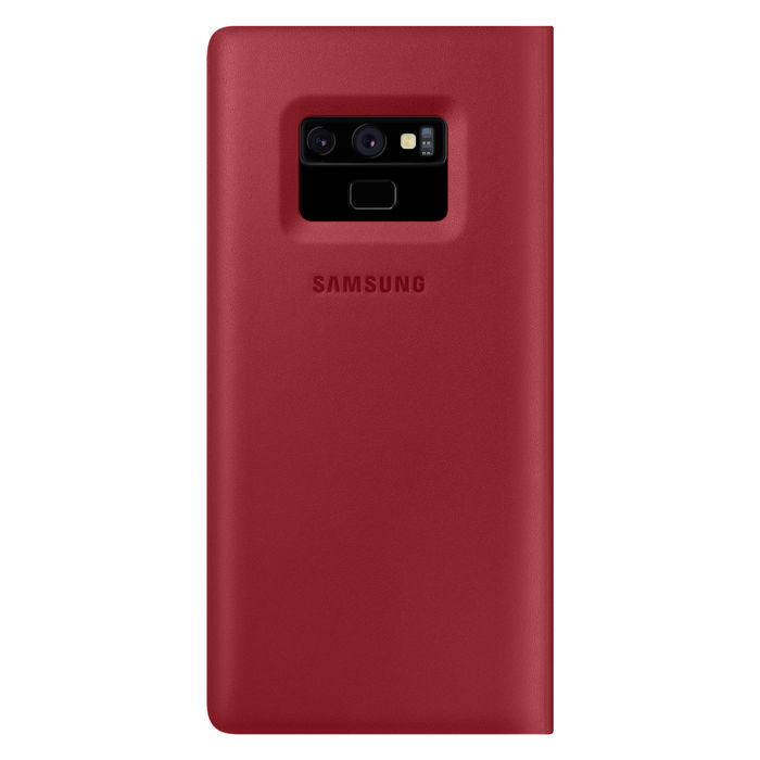 SAMSUNG Galaxy Note9 Leather Wallet Cover Red - thumb - MediaWorld.it