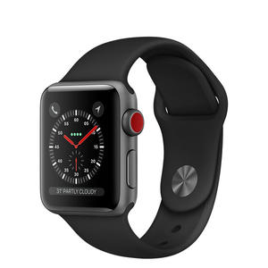 APPLE Watch Series 3 GPS+Cellular 42mm in alluminio grigio siderale - Sport Nero - thumb - MediaWorld.it