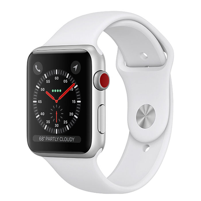 APPLE Watch Series 3 GPS+Cellular 42mm in alluminio color argento - Sport bianco - PRMG GRADING OOBN - SCONTO 15,00% - thumb - MediaWorld.it