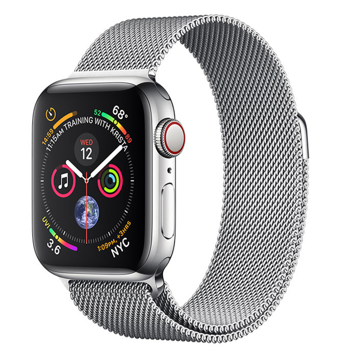 APPLE WATCH Series 4 GPS+Cellular 40 mm in acciaio - Loop in maglia milanese - thumb - MediaWorld.it