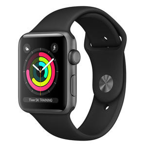 APPLE Watch Series 3 GPS 42mm in alluminio grigio siderale - Sport nero - thumb - MediaWorld.it