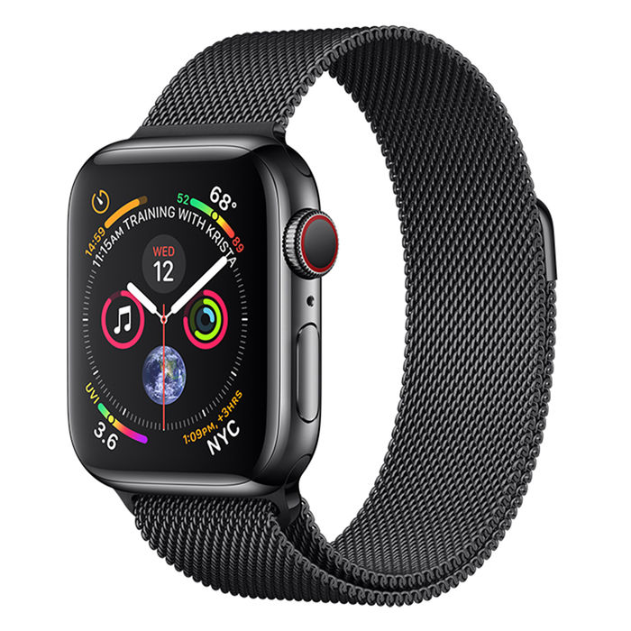 APPLE WATCH Series 4 GPS+Cellular 40 mm in acciaio nero siderale - Maglia Milanese Nero Siderale - thumb - MediaWorld.it