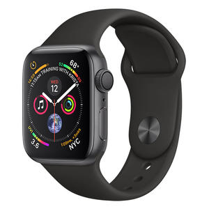 APPLE Watch Series 4 GPS 40mm in alluminio grigio siderale - Sport Nero - MediaWorld.it