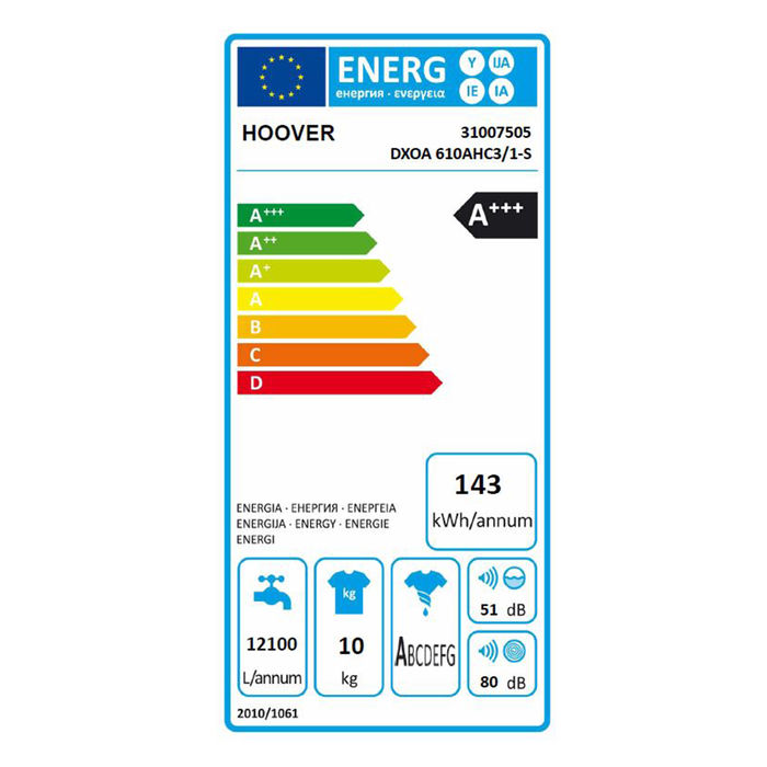 HOOVER DXOA 610AHC3/1-S - thumb - MediaWorld.it