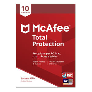 MCAFEE TOTAL PROTECTION 10-Device - MediaWorld.it