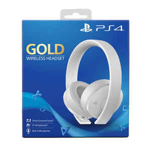 SONY Gold Wireless Headset - White Edition. Cuffie Gaming per PS4 e5a41b23c910
