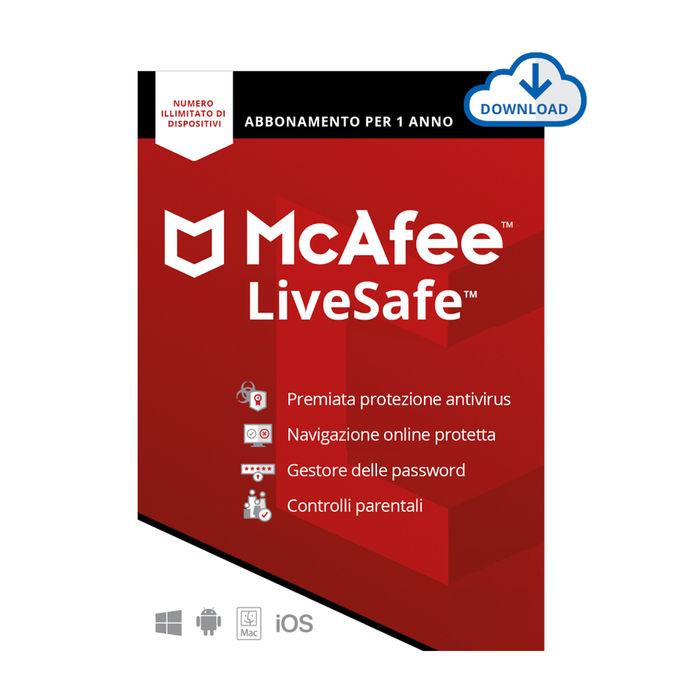 MCAFEE Live Safe - 1User/Dispositivi Illimitati - thumb - MediaWorld.it