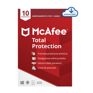 MCAFEE Total Protection 10 Dispositivi - ESD - MediaWorld.it