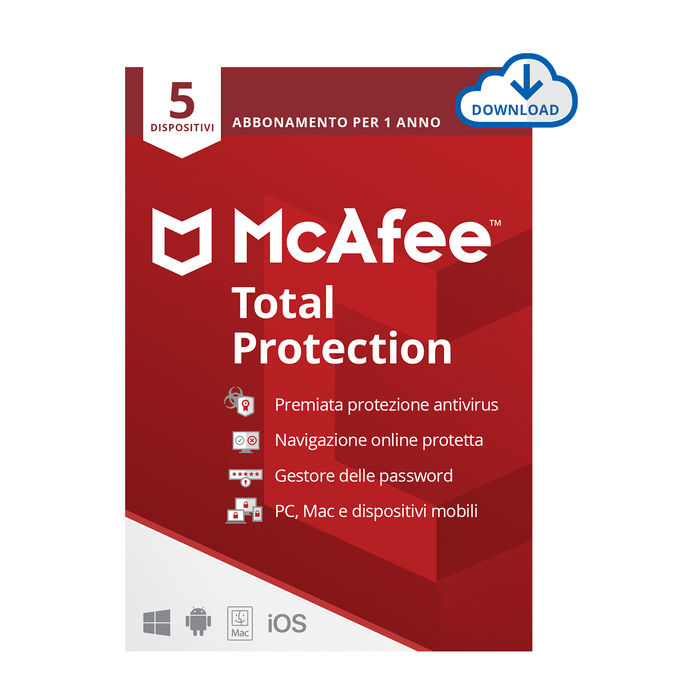 MCAFEE Total Protection 5 Dispositivi - ESD - thumb - MediaWorld.it