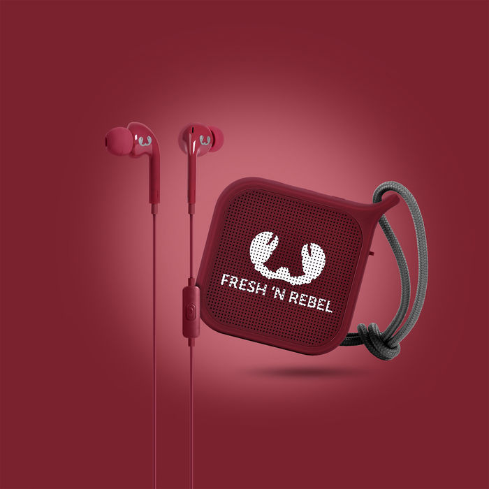 FRESH 'N REBEL 8GIFT04RU Vibe + Rockbox Pebble Ruby - thumb - MediaWorld.it