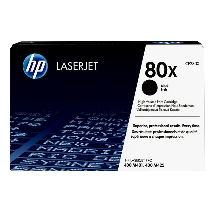 HP 80X Nero cartuccia toner originale LaserJet ad alta capacità CF280X - thumb - MediaWorld.it