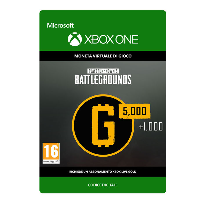 MICROSOFT PLAYERUNKNOWN'S BATTLEGROUNDS 6,000 G-COIN - thumb - MediaWorld.it