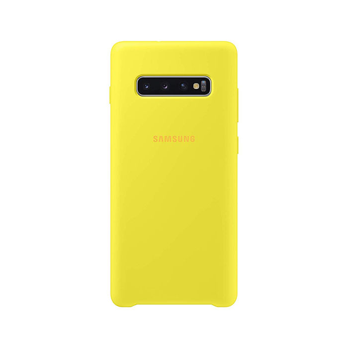 SAMSUNG Cover Silicone Galaxy S10+ Giallo - thumb - MediaWorld.it