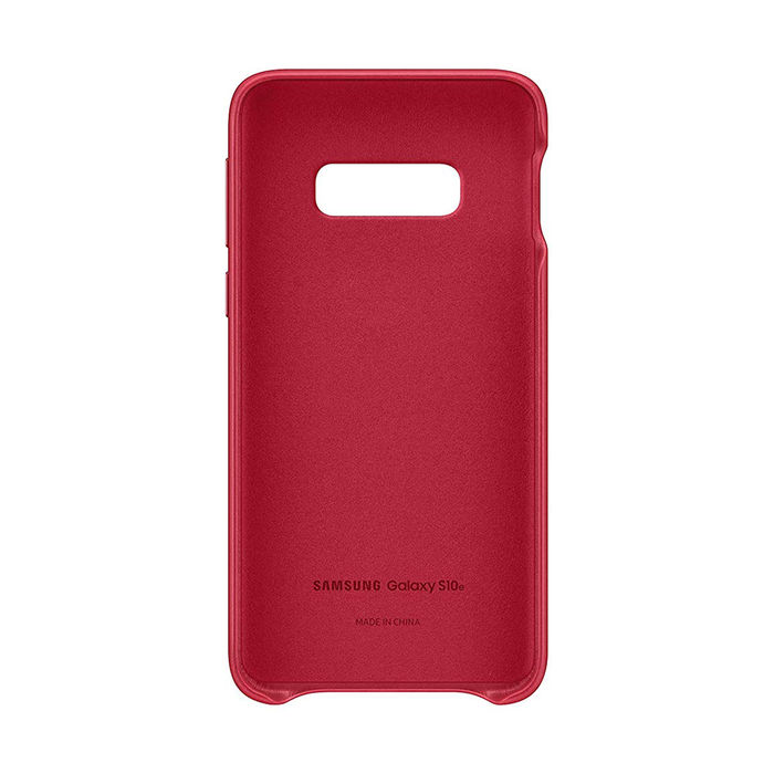 SAMSUNG Cover Pelle Galaxy S10e Red - thumb - MediaWorld.it