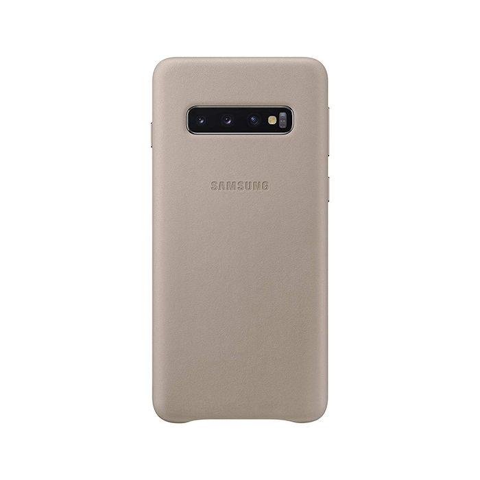 SAMSUNG Cover Pelle Galaxy S10 Grey - thumb - MediaWorld.it