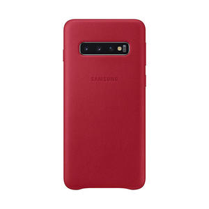 SAMSUNG Cover Pelle Galaxy S10 Red - thumb - MediaWorld.it
