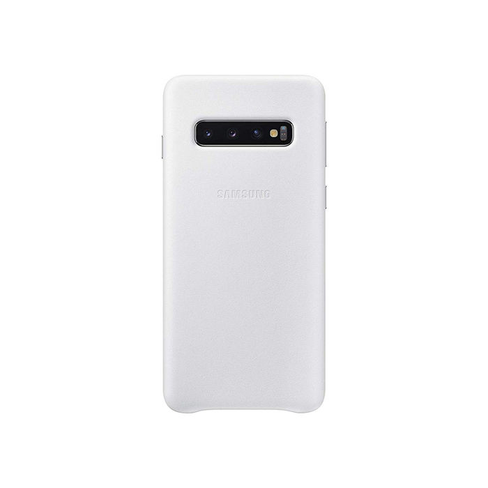 SAMSUNG Cover Pelle Galaxy S10 White - thumb - MediaWorld.it