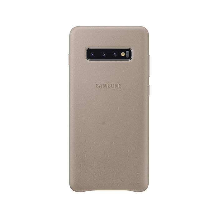 SAMSUNG Cover Pelle Galaxy S10+ Grigio - thumb - MediaWorld.it