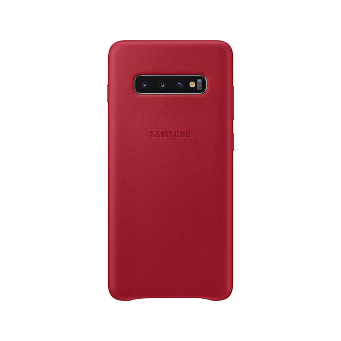 SAMSUNG Cover Pelle Galaxy S10+ Red - thumb - MediaWorld.it