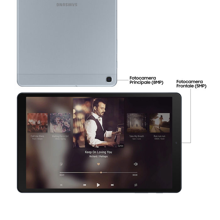 SAMSUNG GALAXY TAB A 10.1 (2019) Silver - thumb - MediaWorld.it
