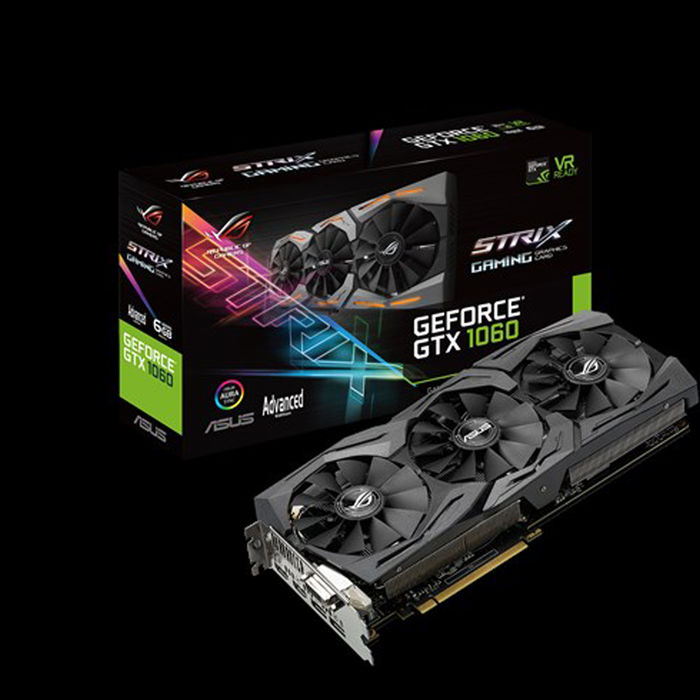 ASUS ROG Strix GeForce GTX 1060 Advanced STRIX-GTX1060-A6G-GAMING - thumb - MediaWorld.it
