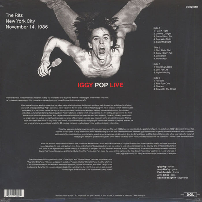 Iggy Pop - Live at the Ritz, NYC - Vinile - thumb - MediaWorld.it