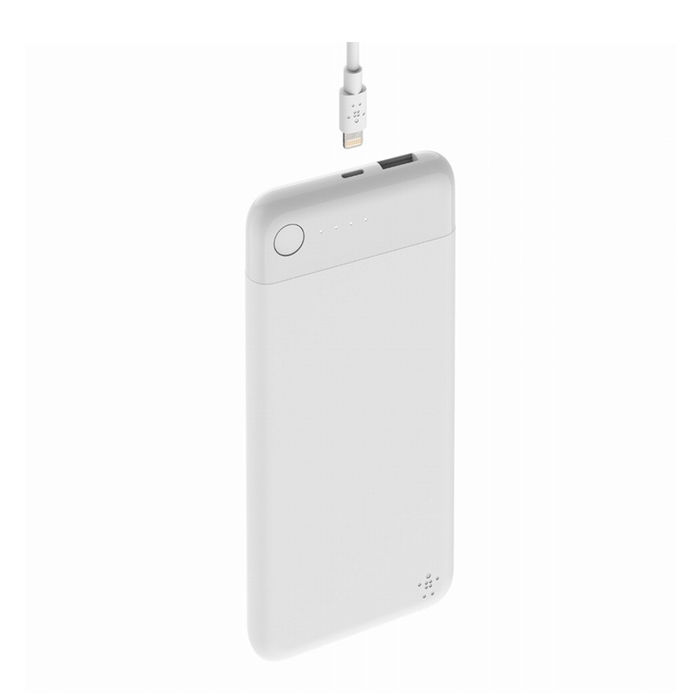 Belkin Lightning Pocket Power Bank Batteria Esterna 10000 mAh bianco + cavo - thumb - MediaWorld.it