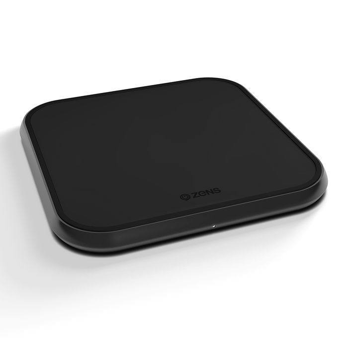 ZENS Tappetino di Ricarica Wireless 10W - Alluminio nero - thumb - MediaWorld.it